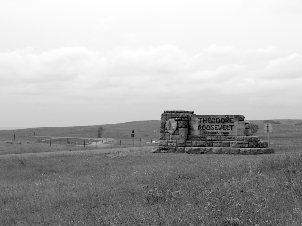 Entrance Sign for Theodore Roosevelt National Park