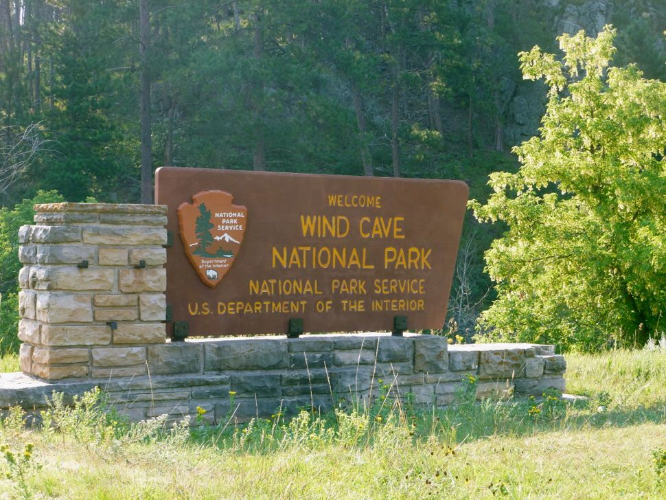 Wind Cave Entrance Sign