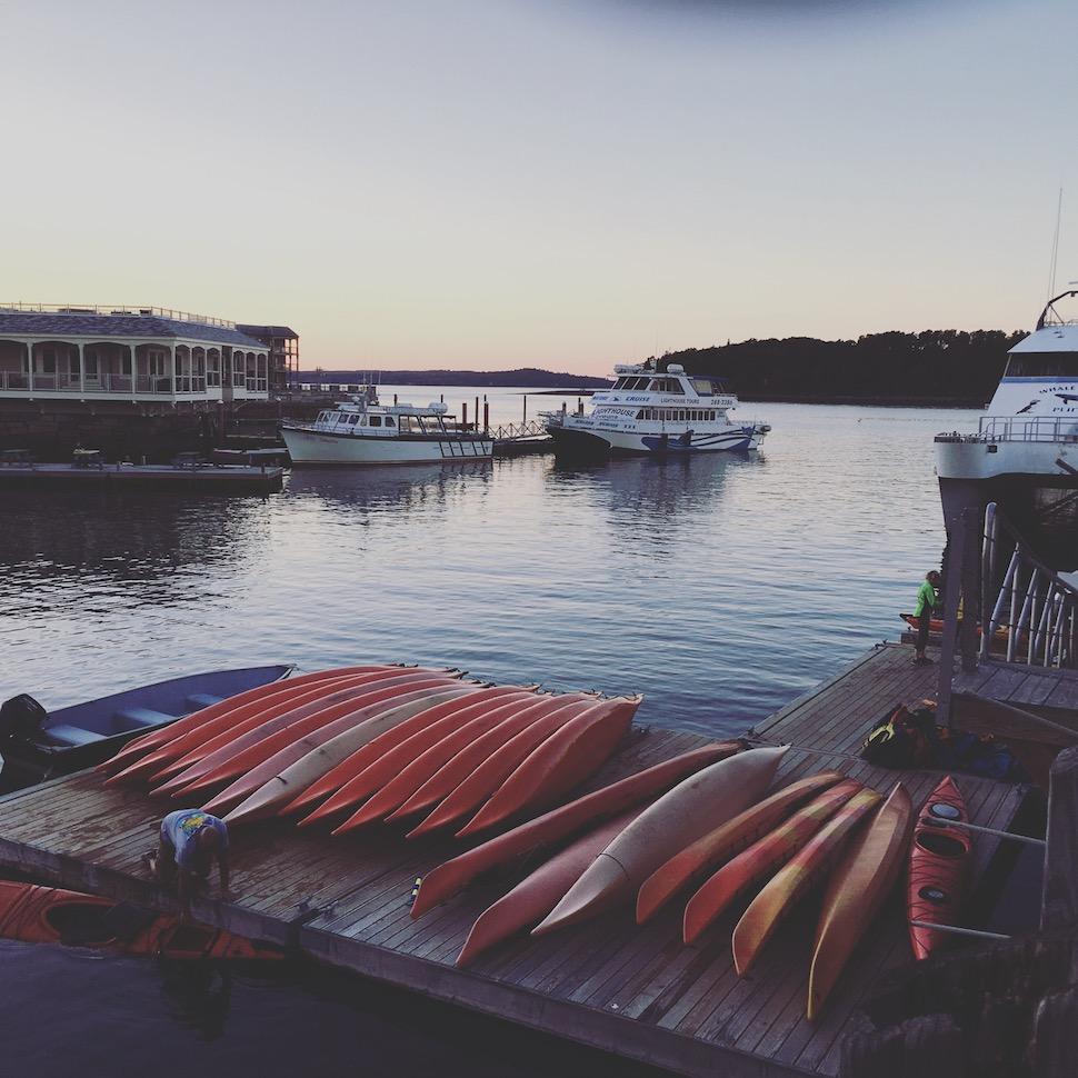 Kayaks in Bar Harbor