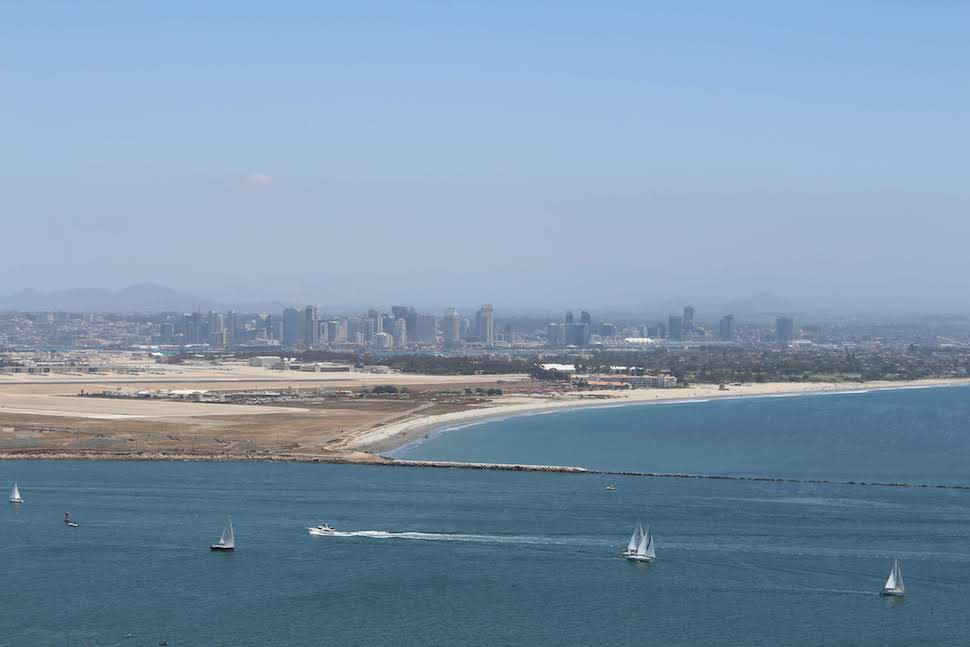 San Diego skyline from Cabrillo National Monument