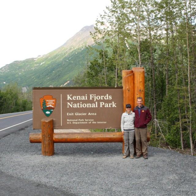 Kenai Fjords National Park Sign