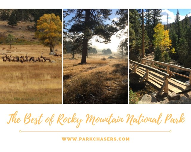 Best of Rocky Mountain National Park logo with three images of the park.