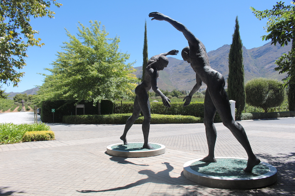 Statues in the gardens at Grande Provence in Franschhoek