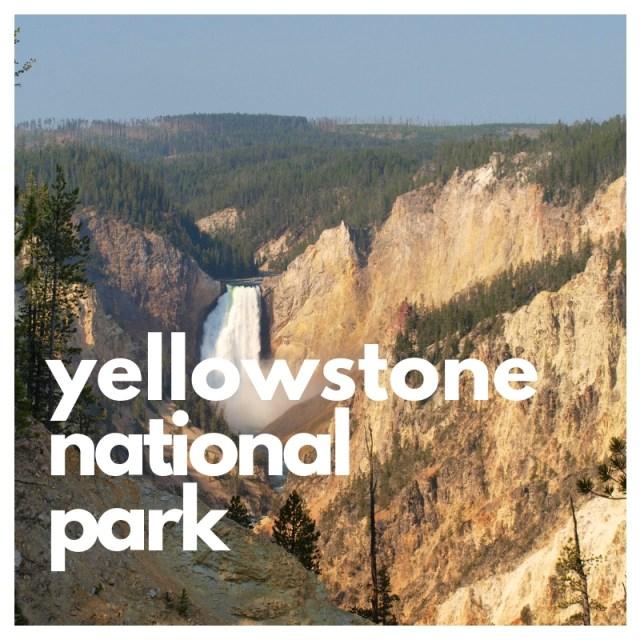 Yellowstone Falls and Yellowstone National Park