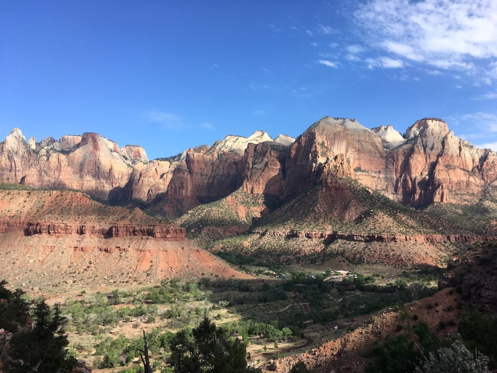 Zion Canyon near South Campground