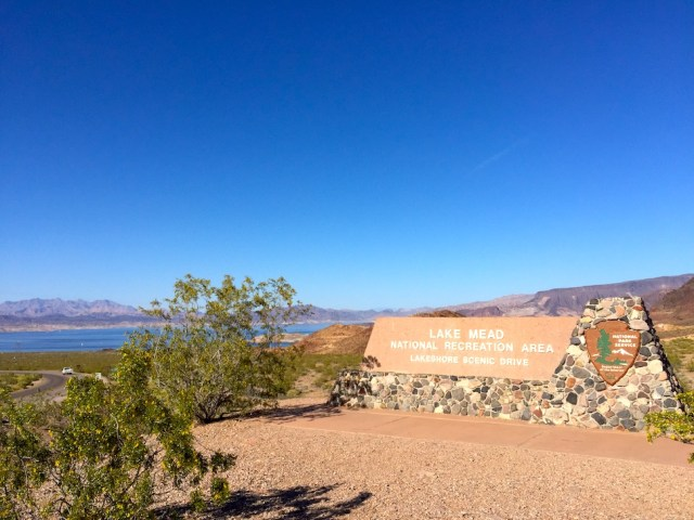 Lake Mead Entrance Sign