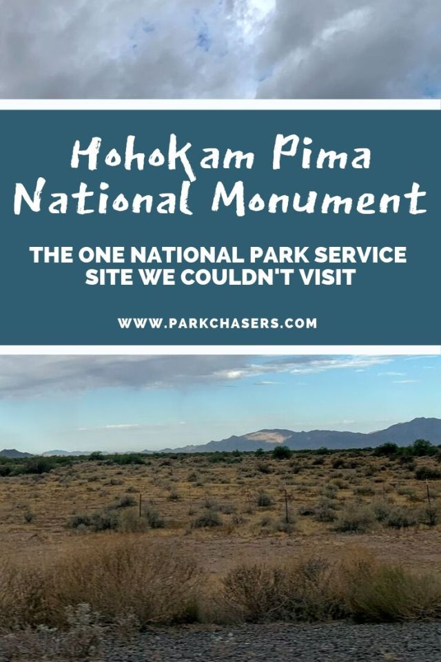 Hohokam Pima National Monument: The one national park service site we couldn't visit