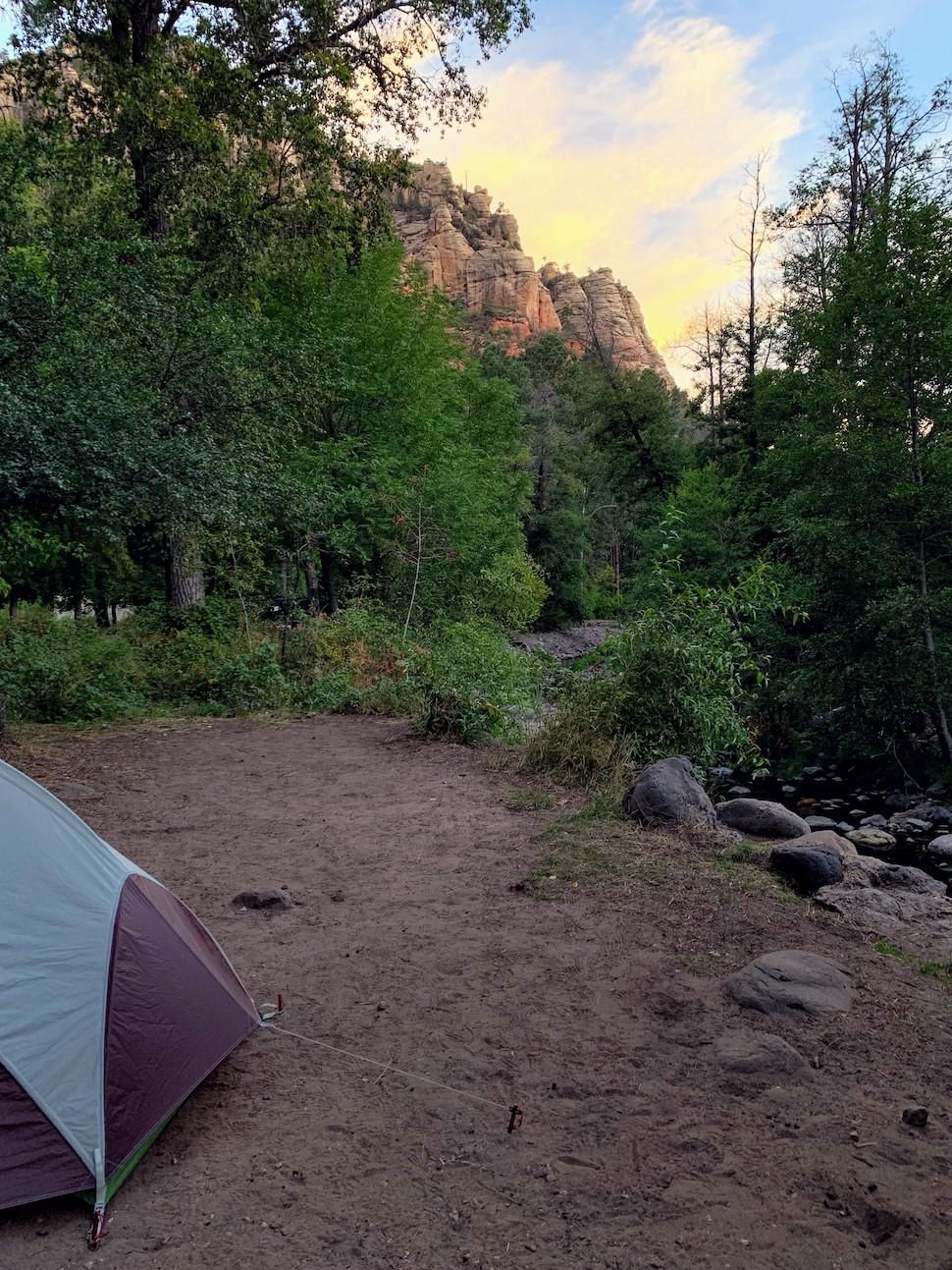 Campsite in Cave Spring Campground