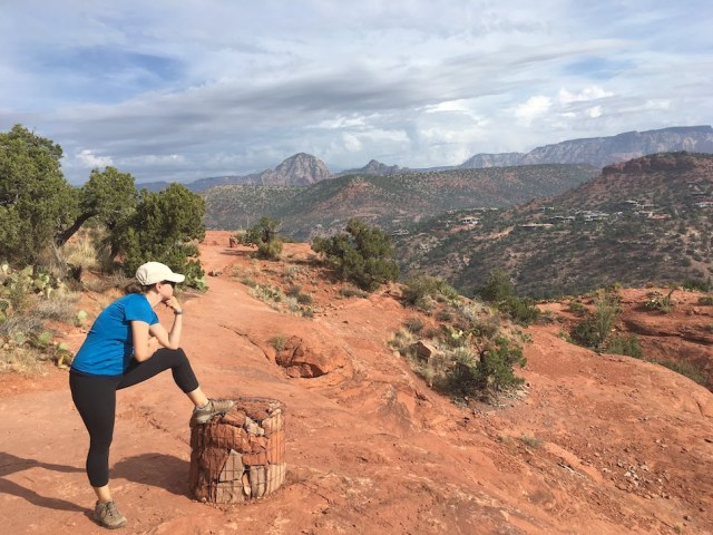 Park Chasers Hiking the Cathedral Rock Trail in Sedona Arizona