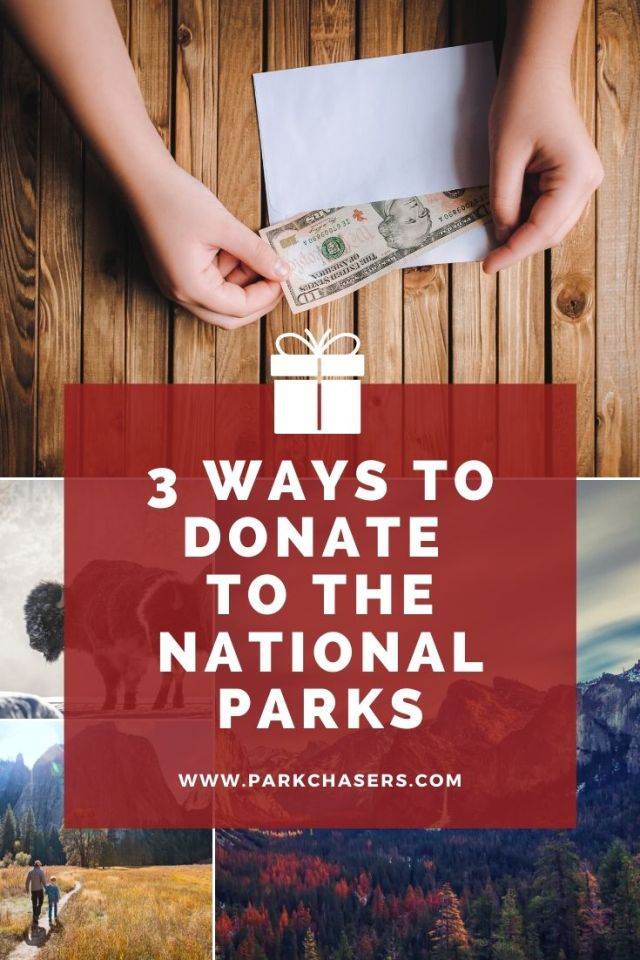ways to donate to the national parks