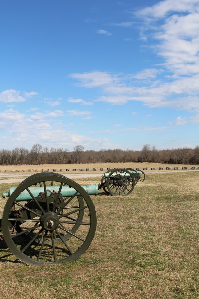 Canons at Pea Ridge National Military Park