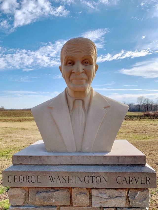 Bust of George Washington Carver at George Washington Carver National Monument