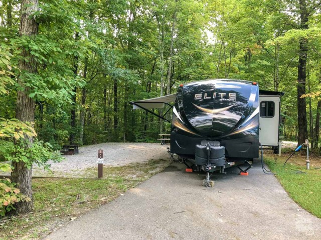 RV in Big South Fork NRR Bandy Campground