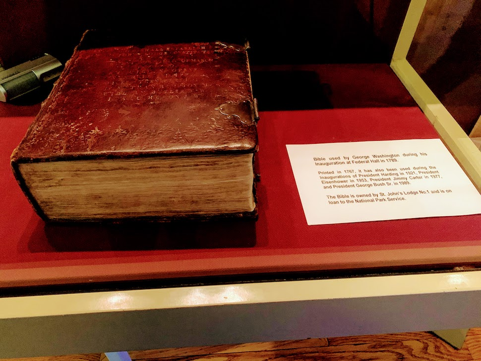 Washington Bible at Federal Hall National Memorial