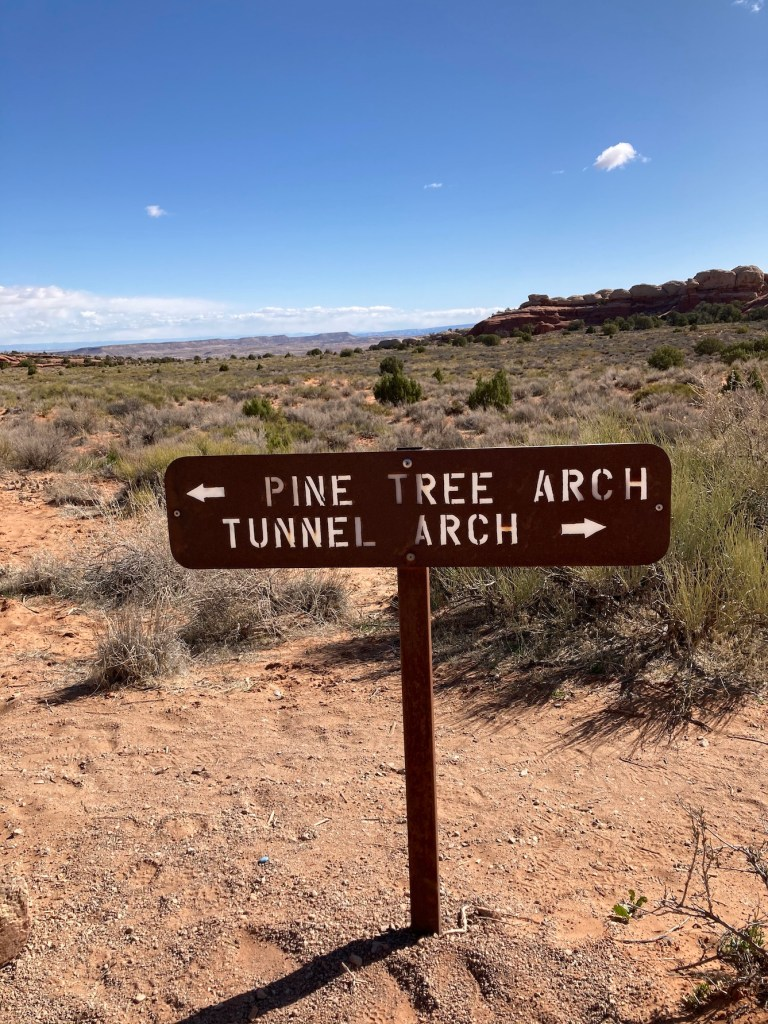 Sign for Tunnel Arch