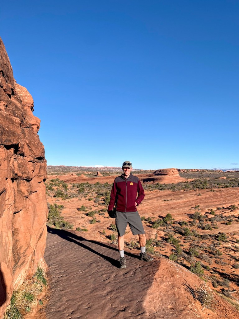 The ledge at Delicate Arch