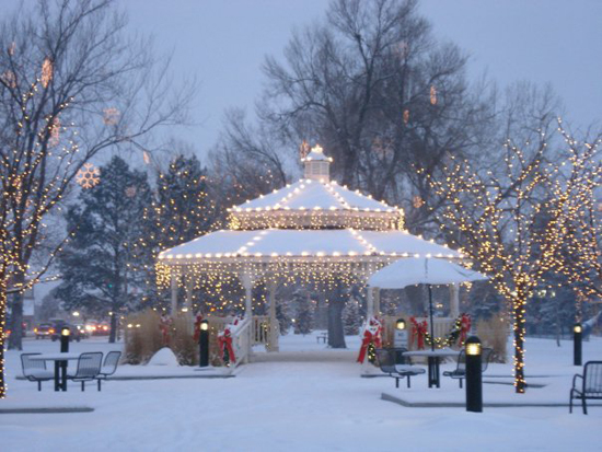 Parker's Gazebo in O'Brien Park at Christmas Holiday Season Photo credit: Facebook