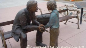 don-budy-sculpture parker station victorian peaks mainstreet town of parker colorado