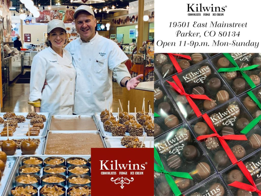 Kilwins Chocolate shop offering handmade chocolates, caramel, Fudge, Ice cream and more.