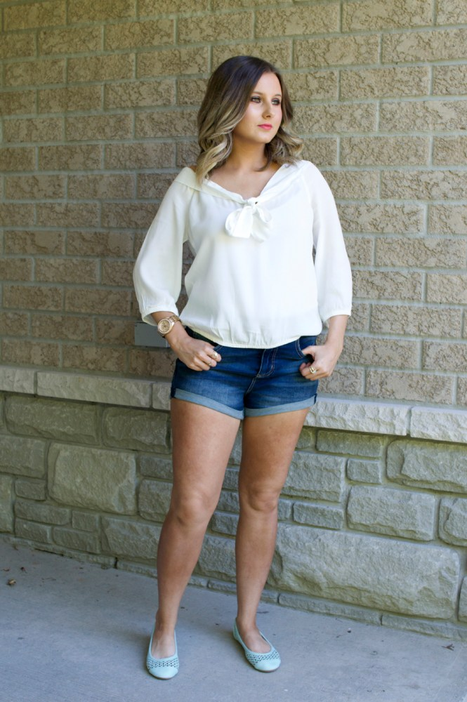 Parker Kate high-waisted denim shorts