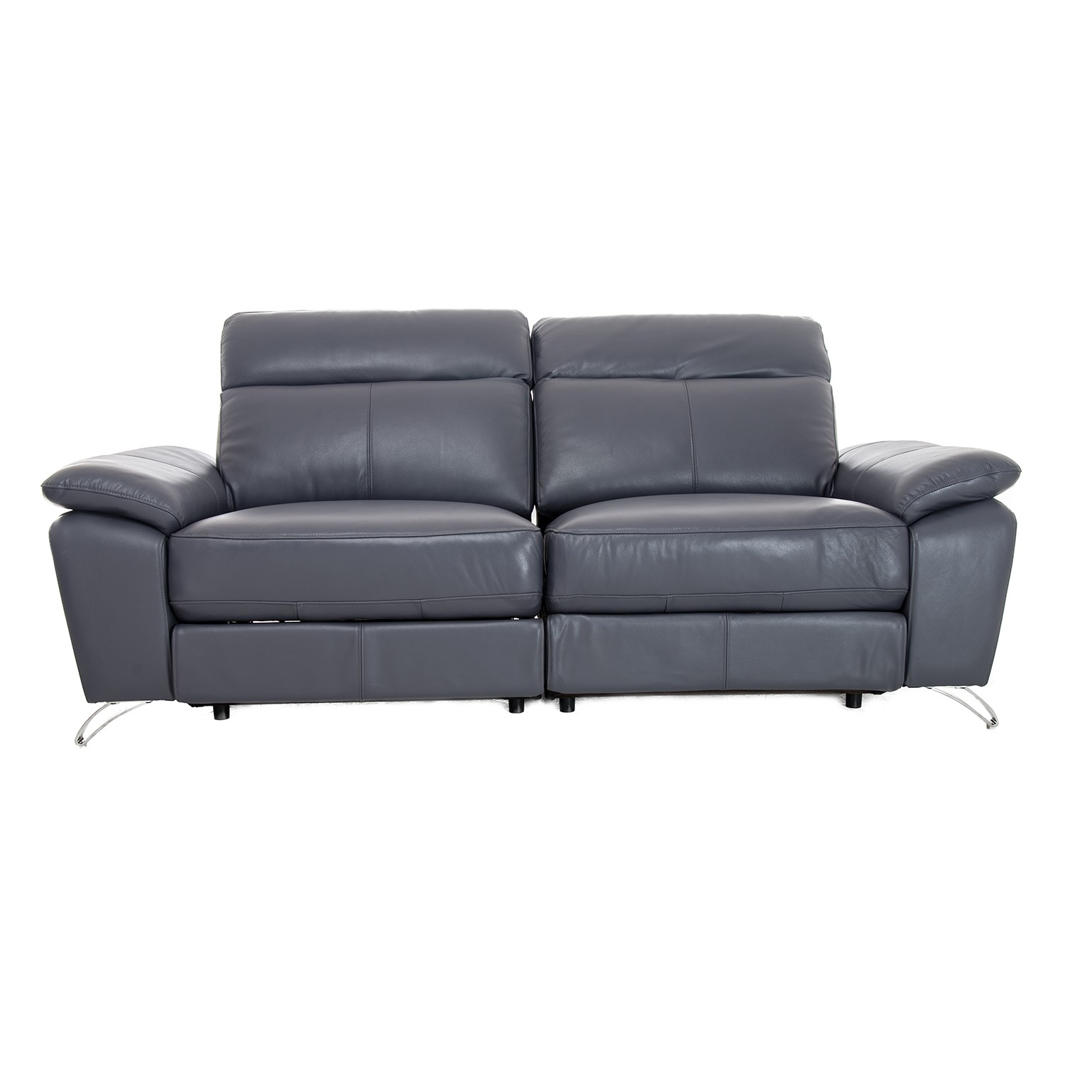 Vivaldi Two Five Seater Power Recliner Leather Sofa