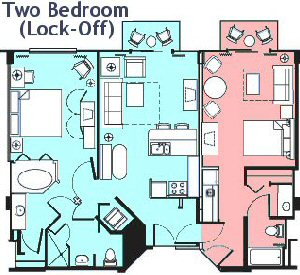 Boardwalk Villas 2 Bedroom Floor Plan