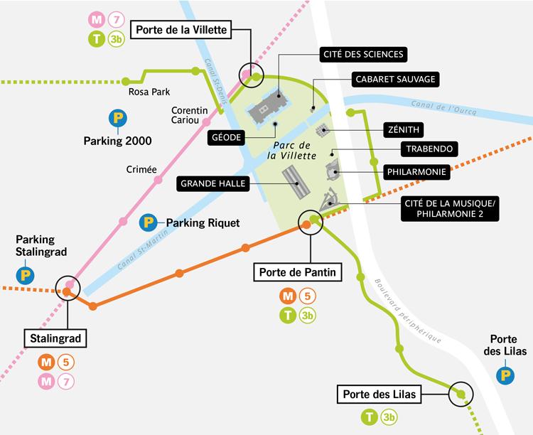 place parking zenith paris
