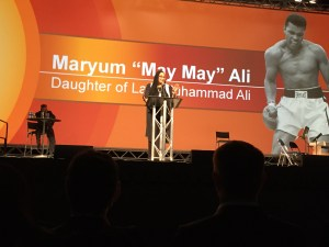 "Maryum ""May May"" Ali at the opening ceremony"