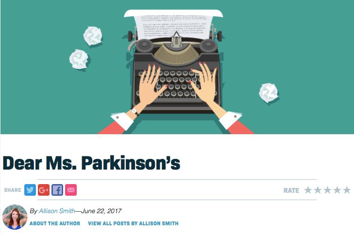 Dear Ms. Parkinson's
