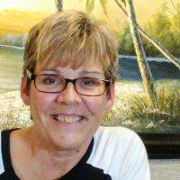 Woman smiling glasses
