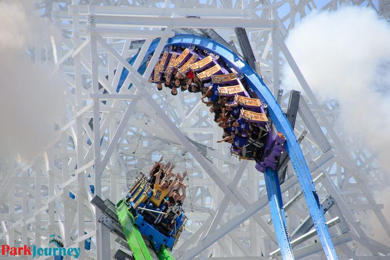 """six flags magic mountain is known as """"the thrill capital of the world,"""" Six Flags Park Journey"""