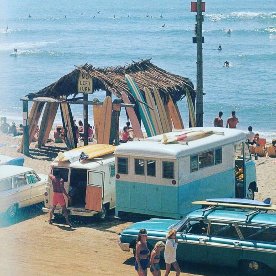 The beach is popular with swimmers and surfers. San Onofre Sb