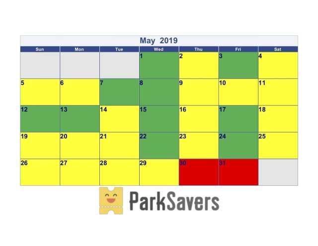 May Disneyland Crowd Calendar