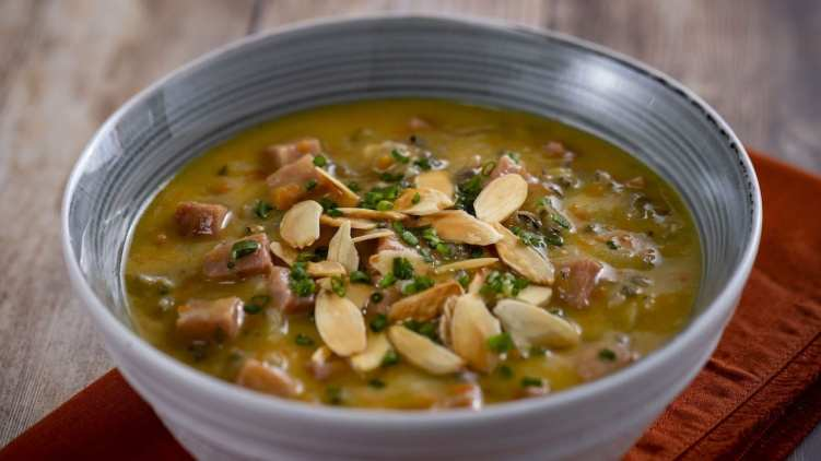 Canadian Wild Rice and Ham Soup