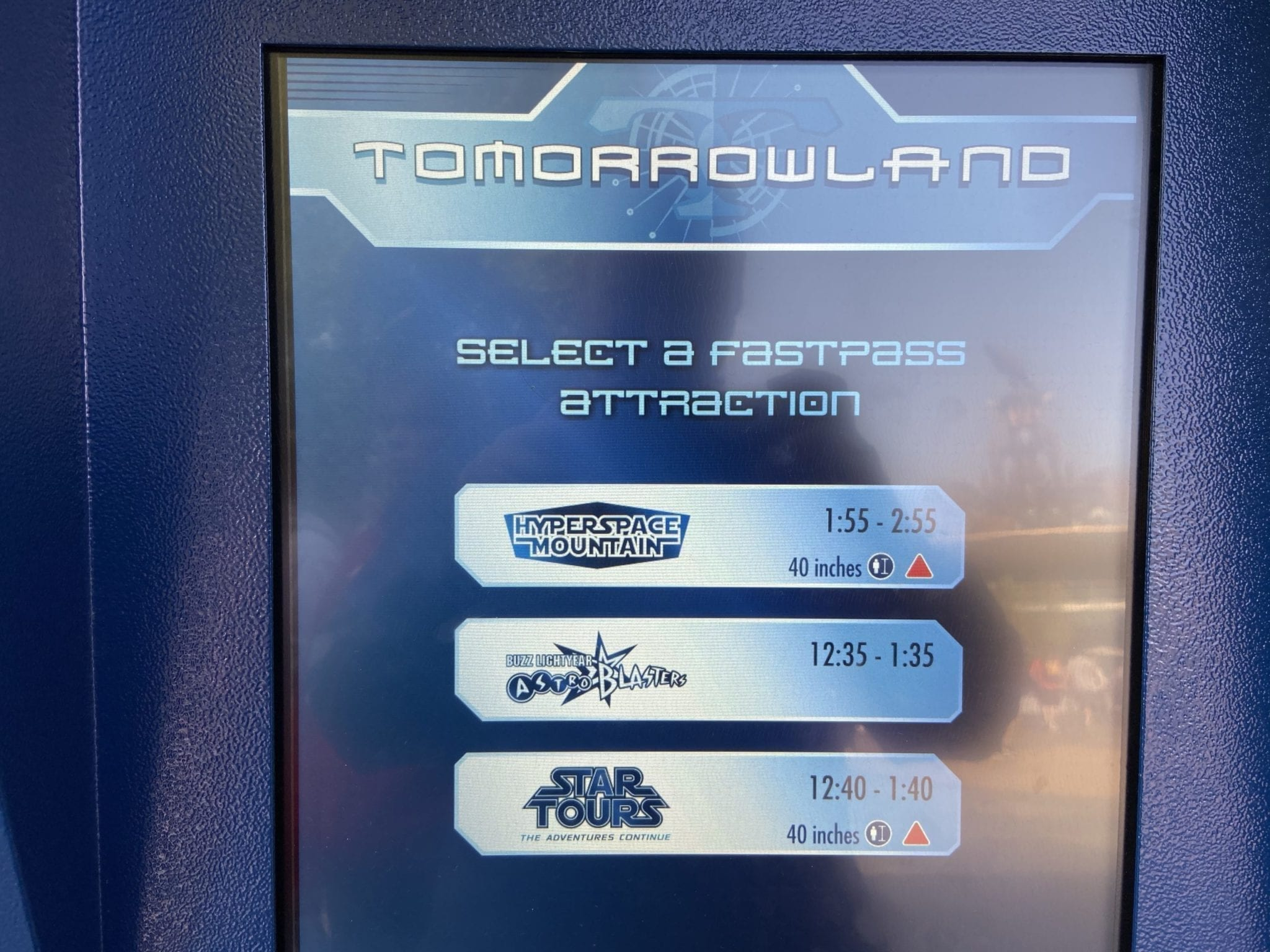 Tomorrowland Fastpass machines