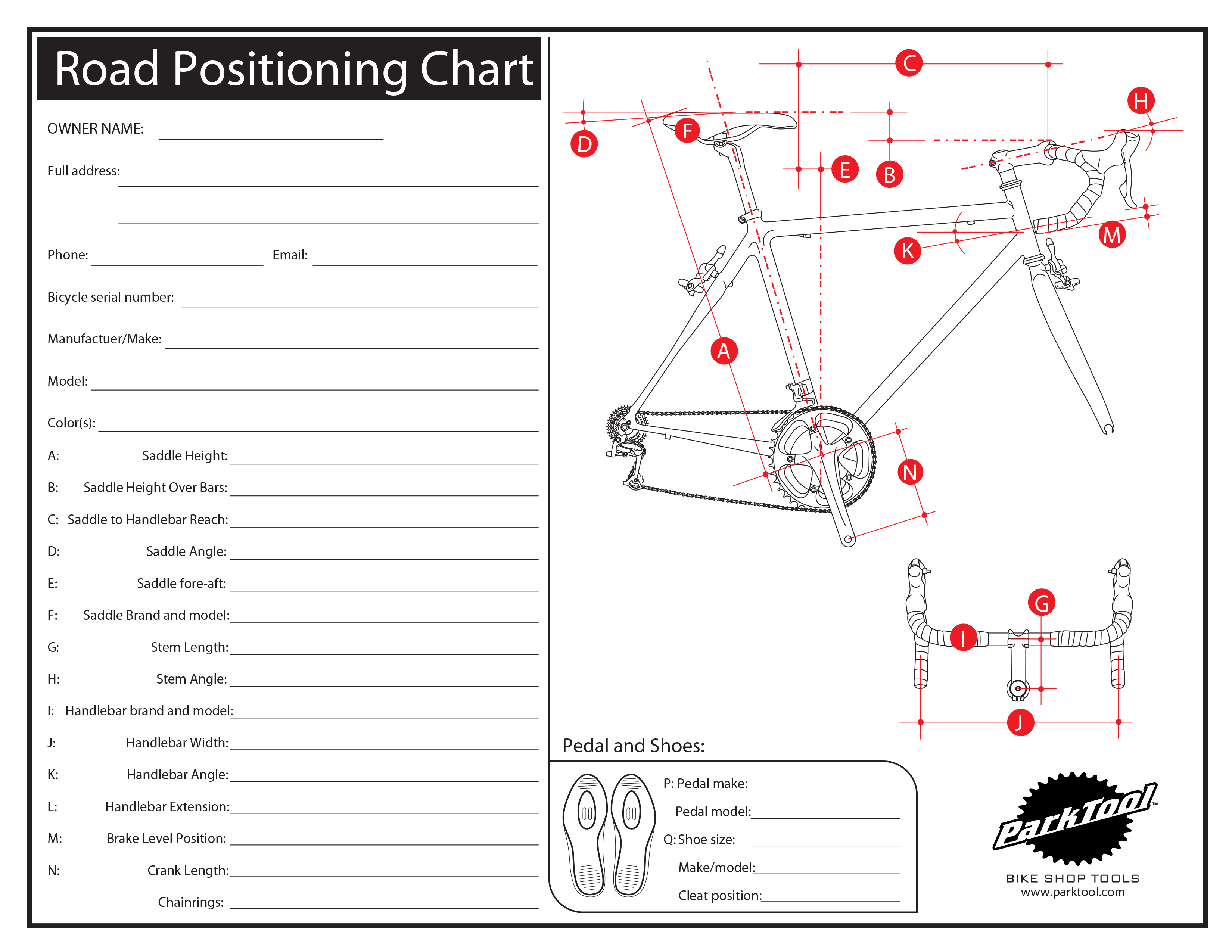 Road Positioning Chart