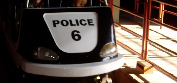 Cop Car Chase Left Movie Park Germany Parkwelten