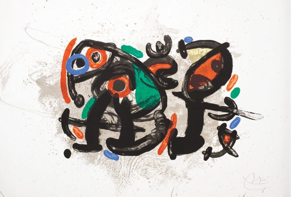 """Ronde Nuit"" (Night Watch), (1970), Joan Miro. M. 672; C. books 134 Park West Gallery"