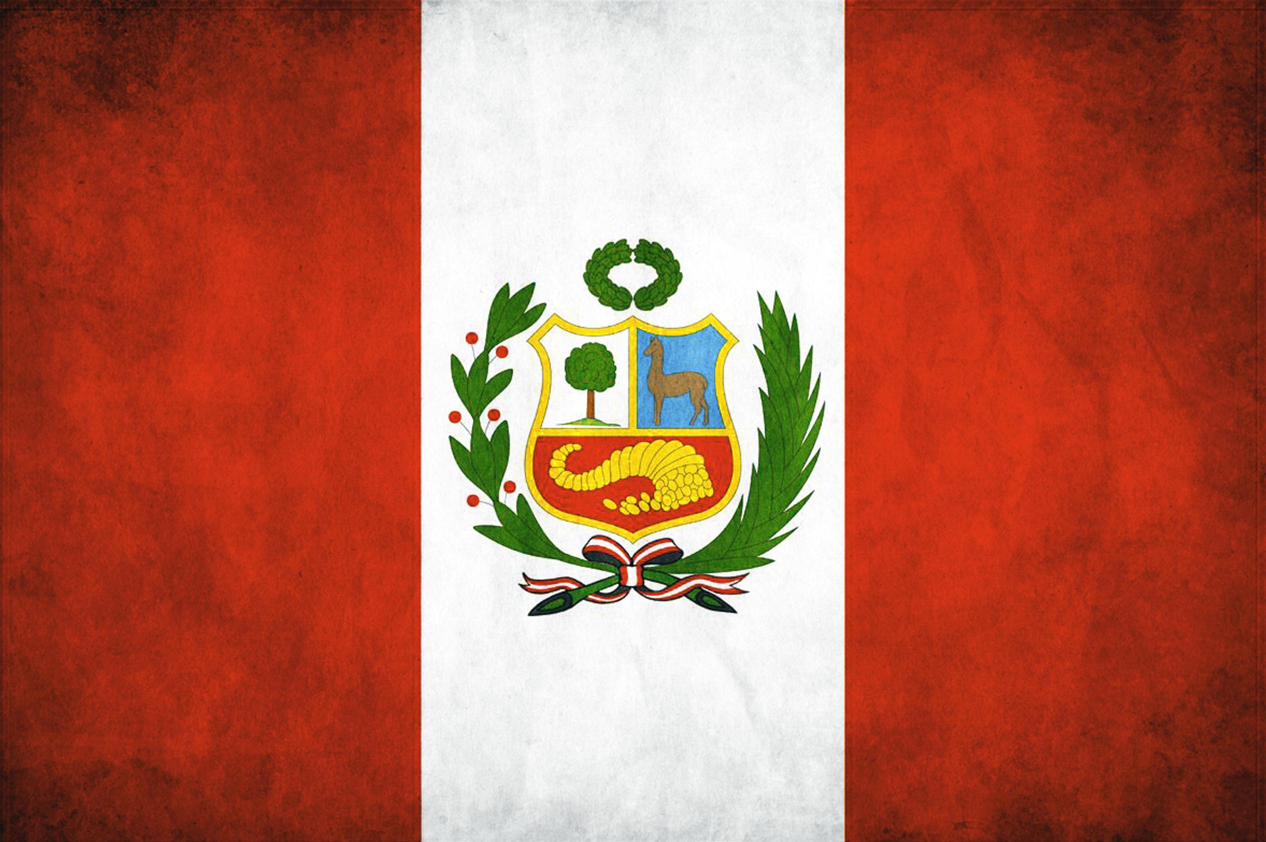 Peruvian Flag Coloring Page