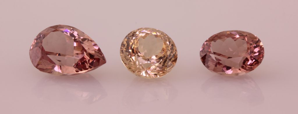 3 Lotus Garnet gemstones