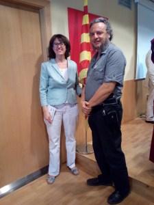 Avec Mme Elisenda Paluzie, Présidente de l' Assemblée Nationale Catalane (ANC).