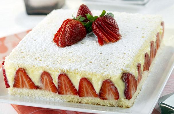 Ricette torte crema e fragole