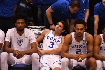 Marvin Bagley et Grayson Allen sur le banc de Duke.