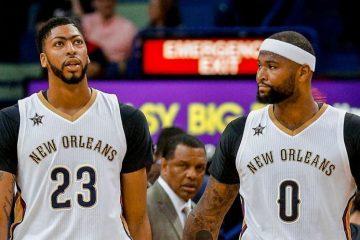 Anthony Davis et DeMarcus Cousins sous le maillot des Pelicans.