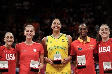 Diana Taurasi, Emma Meesseman, Liz Cambage, Astou Ndour et Breanna Stewart composent le cinq majeur du Mondial