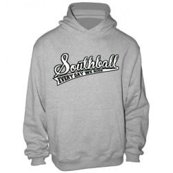 Le hoodie à capuche gris Southball Hoodie Ballin