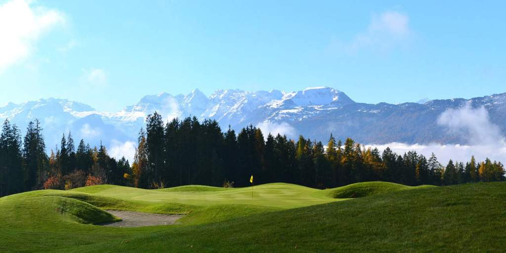 Golf des Dolomites (Italie) - green # 15 - Architecte de golf Michel Niedbala