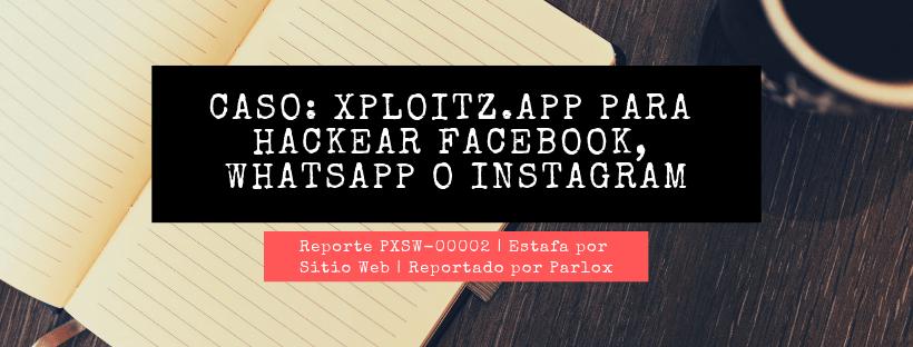 PXSW-00002 Xploitz app Estafa web