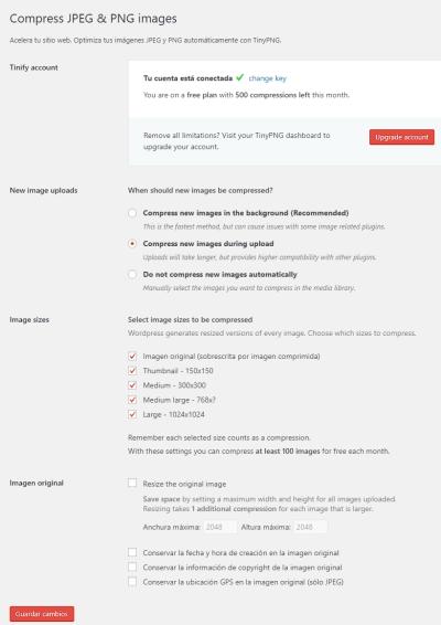 TinyPNG on Parlox Network Screenshot
