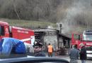 Val Ceno: questa mattina incendio in località Spiaggio